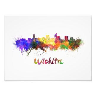Wichita skyline in watercolor foto