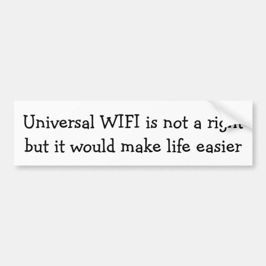 WIFI universal un correcto… Pegatina Para Coche