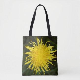 Wildflower amarillo del diente de león bolsa de tela