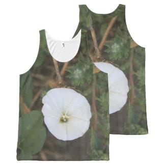 Wildflower blanco circular camiseta de tirantes con estampado integral