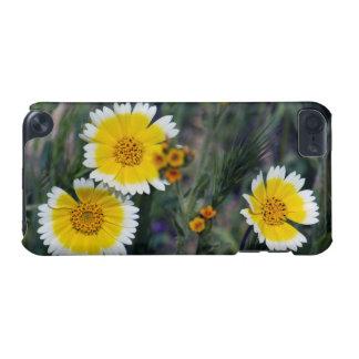 Wildflowers amarillos y girasoles blancos carcasa para iPod touch 5G