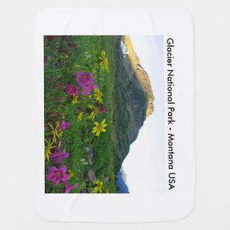 Wildflowers combinados del Parque Nacional Glacier Mantita Para Bebé