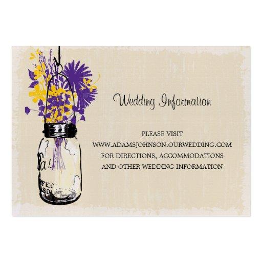 Wildflowers del tarro de albañil de la tarjeta del tarjetas de negocios