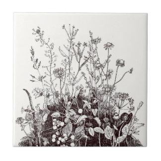 Wildflowers naturales de la baldosa cerámica