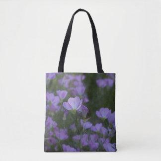 wildflowers púrpuras bolsa de tela
