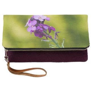 Wildflowers púrpuras bolso de noche