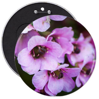 Wildflowers púrpuras chapa redonda de 15 cm