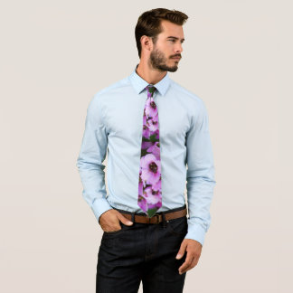 Wildflowers púrpuras corbata