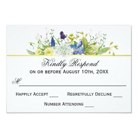 Wildflowers rústicos del jardín secreto que casan invitación 8,9 x 12,7 cm