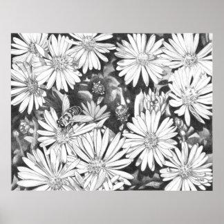 Wildflowers y poster de la bella arte de la impres