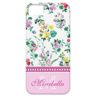 Wildflowers y rosas amarillos rojos púrpuras funda para iPhone SE/5/5s