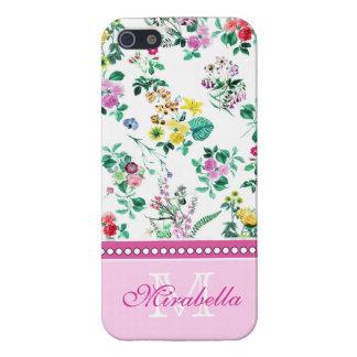 Wildflowers y rosas amarillos rojos púrpuras iPhone 5 carcasa