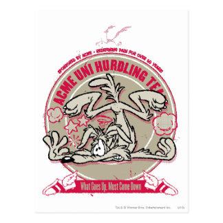 Wile E. Coyote ACME Uni que valla al equipo Postal
