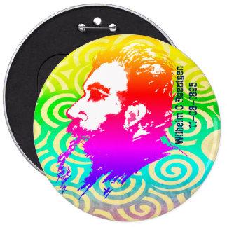 Wilhelm C. Roentgen Rainbow colorea el botón