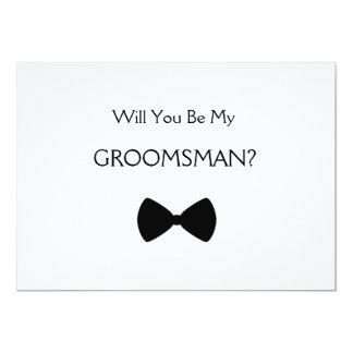 Will you be my groomsman? invitación 12,7 x 17,8 cm