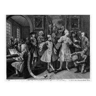 William Hogarth - rodeado por los artistas, profes Postales
