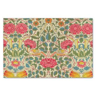 William Morris subió el vintage floral Papel De Seda