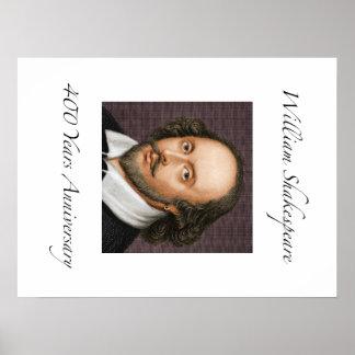 William Shakespeare 400 años de aniversario Póster