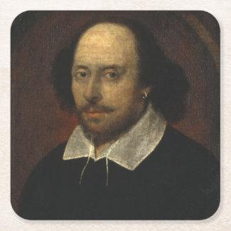 William Shakespeare Posavasos De Papel Cuadrado