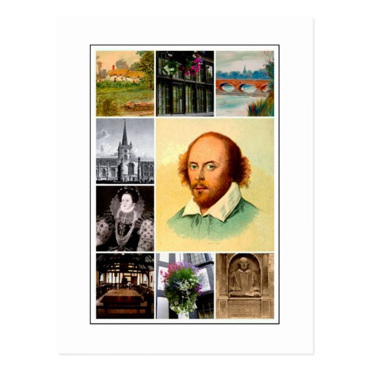 William Shakespeare y Stratford-sobre-Avon Postal