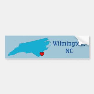 Wilmington, NC Pegatina Para Coche