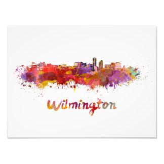 Wilmington skyline in watercolor foto