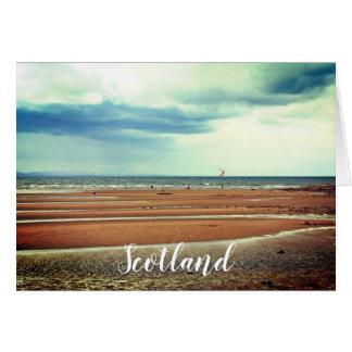 Windsurfing en Escocia, tarjeta de felicitación