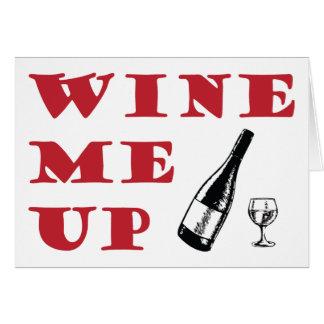 Wine encima de tarjeta