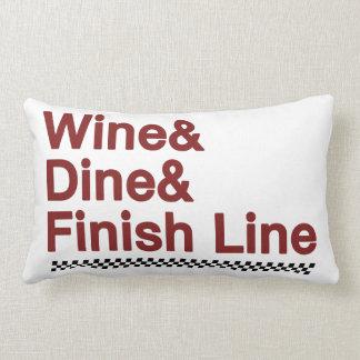 Wine y cena y la meta cojín lumbar