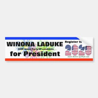 WINONA LADUKE PARA EL PRESIDENTE 2020 - PEGATINA PARA COCHE
