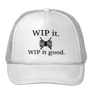 WIP él bueno - ganchillo Gorros Bordados