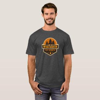 Wisconsin encima de la camiseta del norte