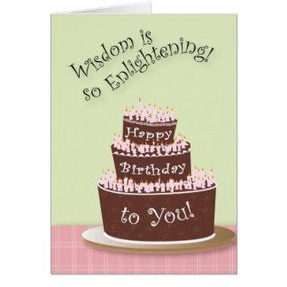 Wisdon viene con edad tarjeta de felicitación