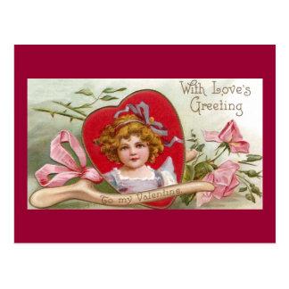 Wishbone, rosas y tarjeta del día de San Valentín