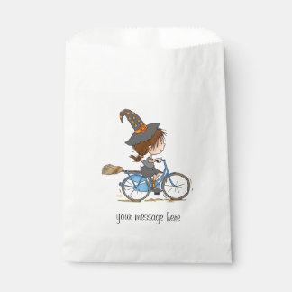 Witch in bike - paper bag bolsa de papel
