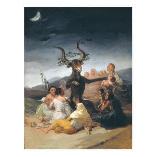 Witches Sabbath - Francisco de Goya (1797-1798) Postal