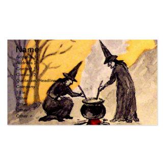 Witching de medianoche (tarjeta de Halloween del v Tarjeta De Visita