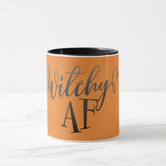Witchy AF Halloween Taza