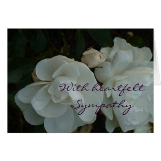 With heartfelt Sympathy - tarjeta de pésame