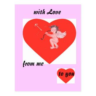 with love tarjeta del día de los enamorados tarjeta postal