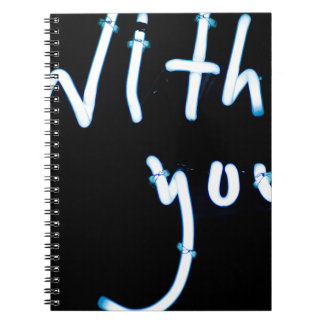 With you neon light sign at night photograph roman cuaderno