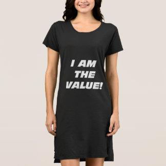 ¡Wmns soy el valor! Vestido de la camiseta