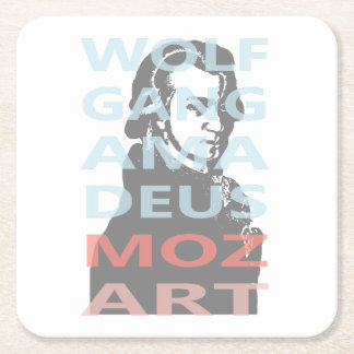 Wolfgang Amadeus Mozart Posavasos De Papel Cuadrado