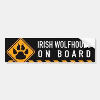 Wolfhound irlandés a bordo pegatina para coche