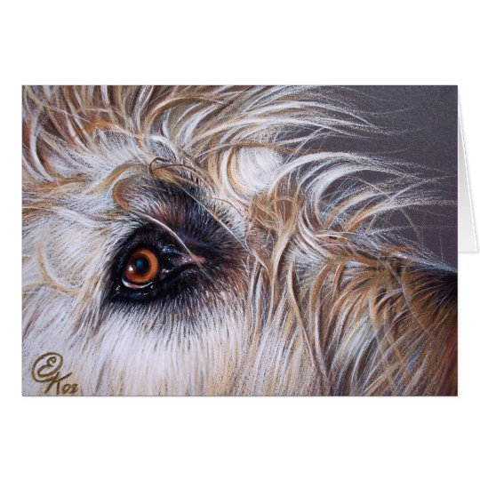 Wolfhound irlandés tarjeta de felicitación