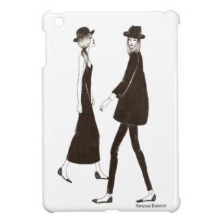 Woman in black iPad mini protector