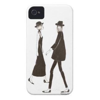 Woman in black iPhone 4 protectores
