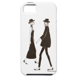 Woman in black iPhone 5 protector