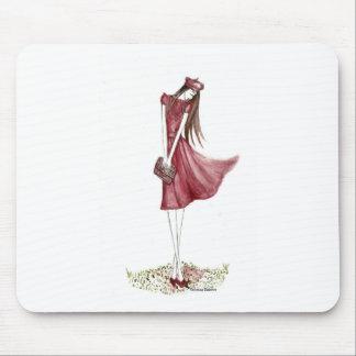 Woman in burgundy alfombrilla de ratón