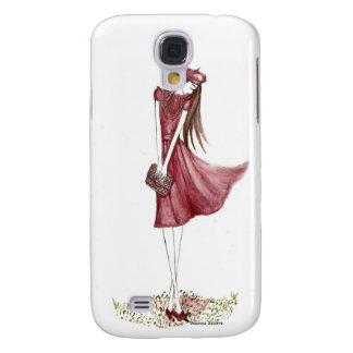 Woman in burgundy funda para galaxy s4